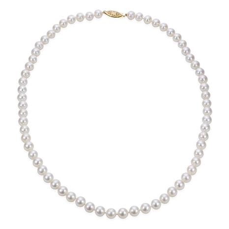 """Imperial Pearls 20"""" 14K 7-7.5mm Cultured Freshwater Pearl Necklace"""