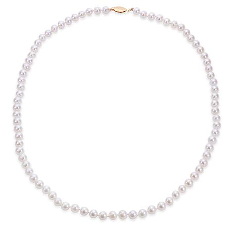 """Imperial Pearls 20"""" 14K Gold 5.5-6mm Cultured Akoya Pearl Necklace"""