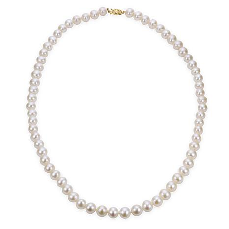 "Imperial Pearls 24"" 14K 8.5-9.5mm Cultured Freshwater Pearl Necklace"