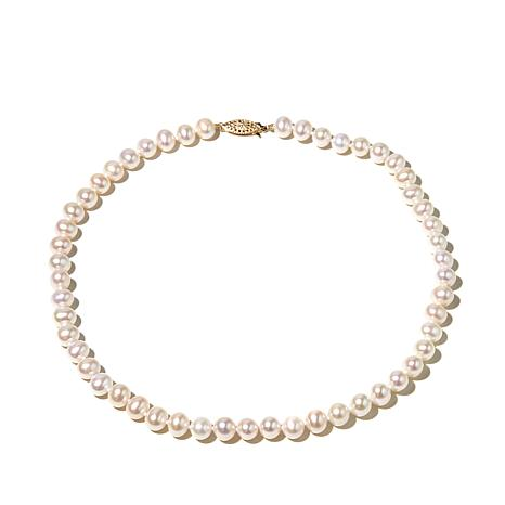 "Imperial Pearls 7-7.5mm Cultured Pearl 14K 16"" Necklace"