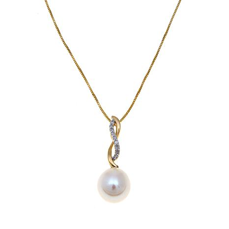 Imperial Pearls 8-9mm Cultured Pearl 14K Swirl Pendant