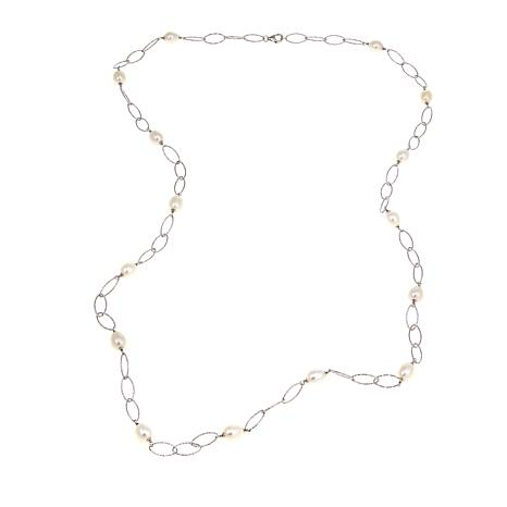 "Imperial Pearls 8-9mm Cultured Pearl Oval Link 36"" Necklace"