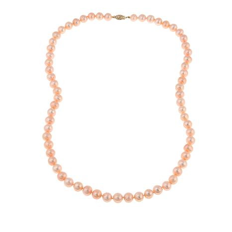 "Imperial Pearls 8.5-9.5mm Blush Cultured Pearl 14K 24"" Necklace"