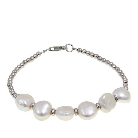 Imperial Pearls 9-10mm Cultured Baroque Pearl Beaded Bracelet