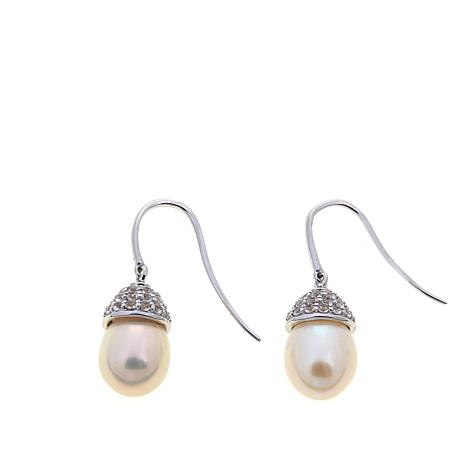 Imperial Pearls Cultured Pearl and Topaz Earrings