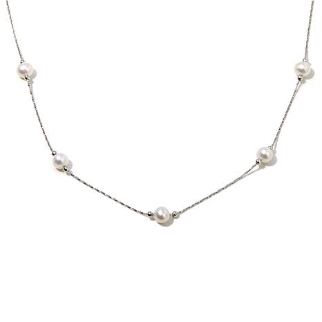 Imperial Pearls Cultured Pearl Station Slide Necklace