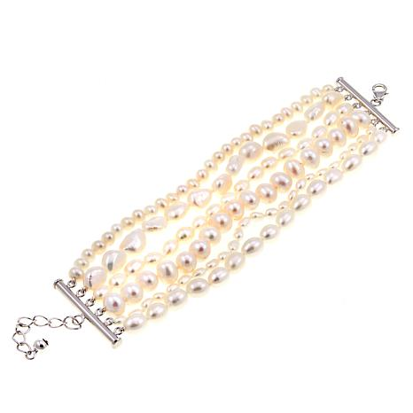 Imperial Pearls Mixed Cultured Freshwater Pearl 6-Strand Bracelet
