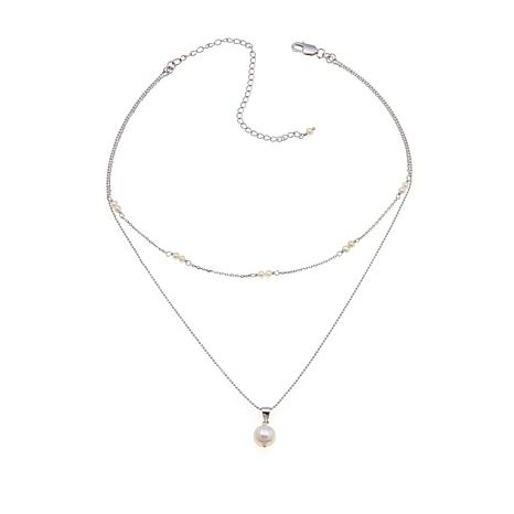 Imperial Pearls White Cultured Pearl Necklace