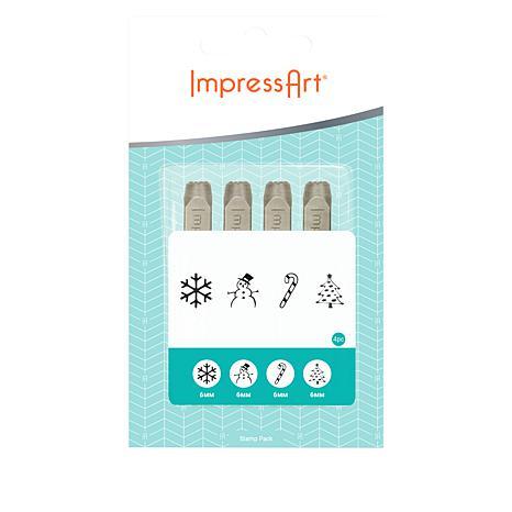 ImpressArt Christmas Design Stamp Set 4-pack