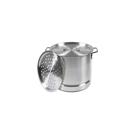 IMUSA 20-Quart Tamale and Seafood Steamer - Silver