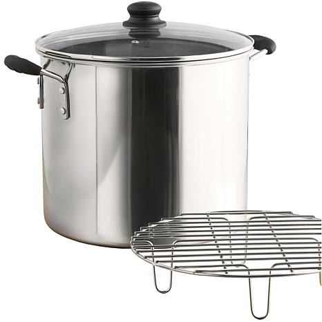 IMUSA 8-Quart Stainless Steel Tamale and Seafood Steamer - Silver