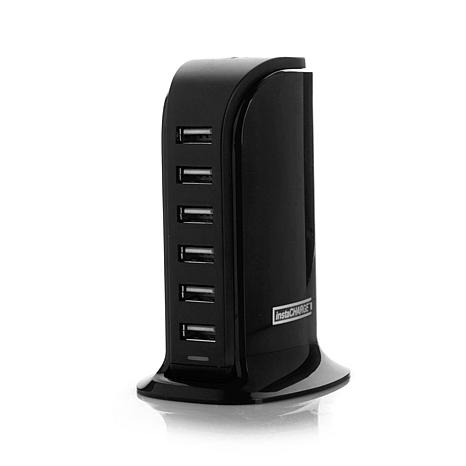 Instacharge 6 Port Usb Smart Charger With Micro Usb And