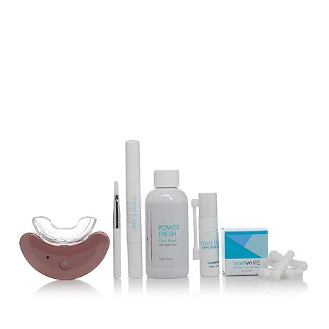 IntelliWHITE CoolBlue Teeth Whitening System w/Oral Rinse - Rose Gold