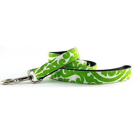 """Isabella Cane Cotton Buddha Dog Leash - Green 5' x 1"""""""
