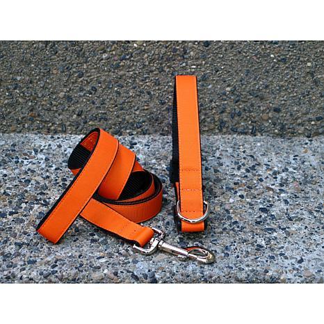 Isabella Cane Extra Small Orange Tango Collar-Leash Set