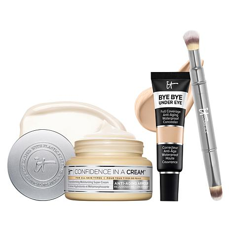 IT Cosmetics It's Your Flawless Complexion Light Natural Buff 3pc Set