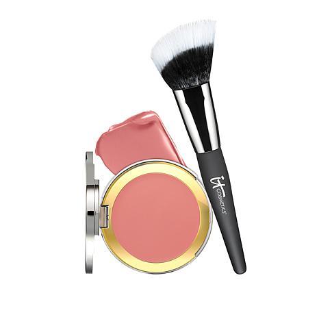 IT Cosmetics Naturally Pretty CC Creme Blush w/Angled Radiance Brush