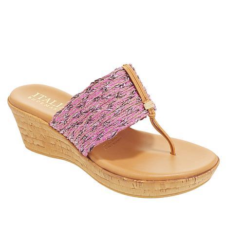 Italian Shoemakers Angeles Cork Wedge Sandal