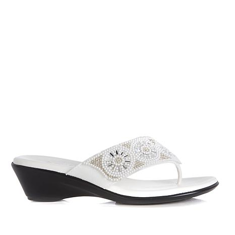 Italian Shoemakers Lumene Thong Wedge Sandal