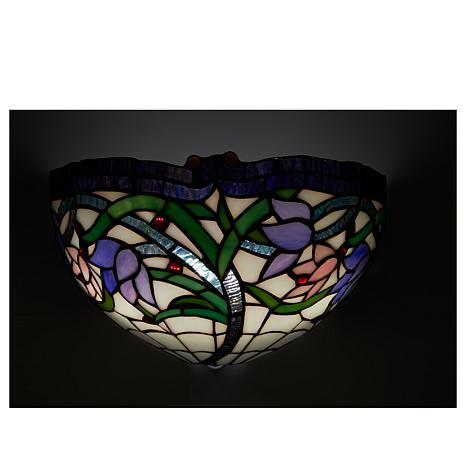 Hsn Battery Operated Wall Sconces : It s Exciting Lighting Battery Powered Wall Sconce - Stained Glass Violet - 8423327 HSN