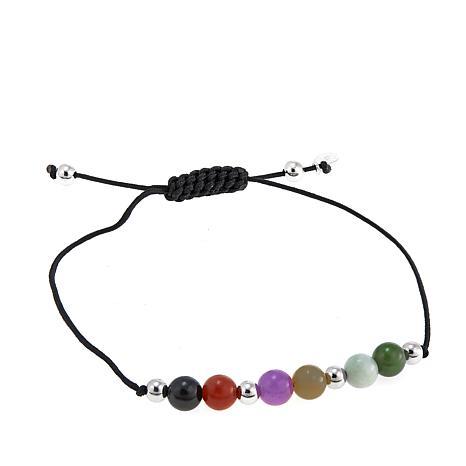Jade of Yesteryear Jade Multicolor Macrame Bracelet