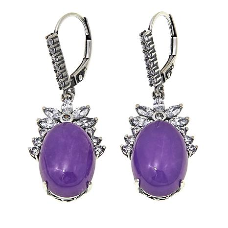 purple fine i yellow jade tradesy gold earrings other estate