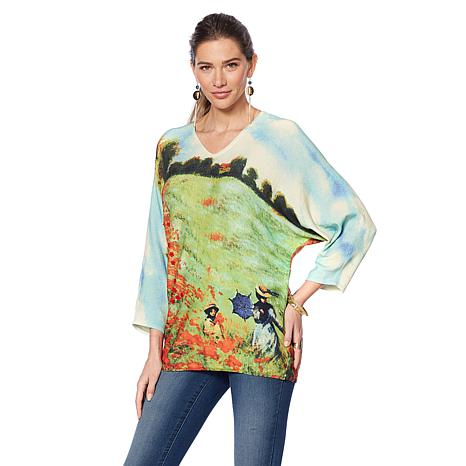 Jamie Gries Collection Artist Series Dolman-Sleeve Sweater