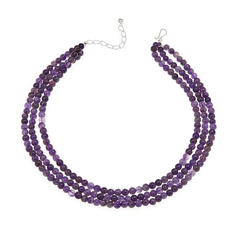 "Jay King 3-Strand Cape Amethyst Bead 18"" Necklace"