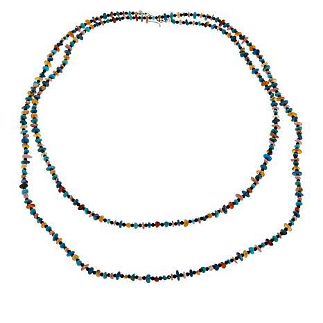 "Jay King 60"" Multi-Stone Necklace"