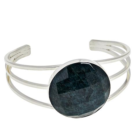 "Jay King 7"" Teal Apatite 3-Band Negative Space Cuff"