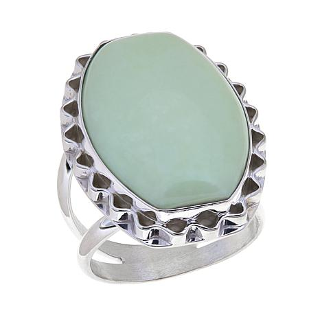 Jay King African Gaspeite Sterling Silver Ring
