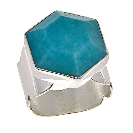Jay King Amazonite Sterlng Silver Ring