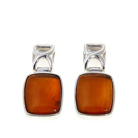 Jay King Amber Drop Sterling Silver Earrings