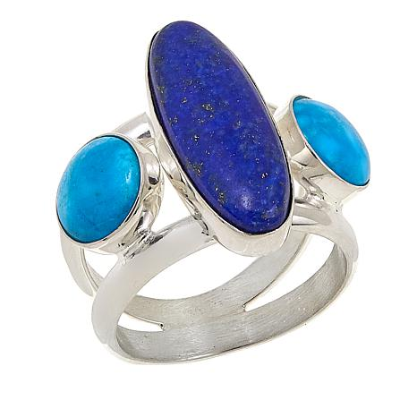 Jay King Andean Blue Turquoise and Lapis Sterling Silver Ring