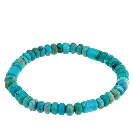 Jay King Angel Peak Turquoise Bead Stretch Bracelet