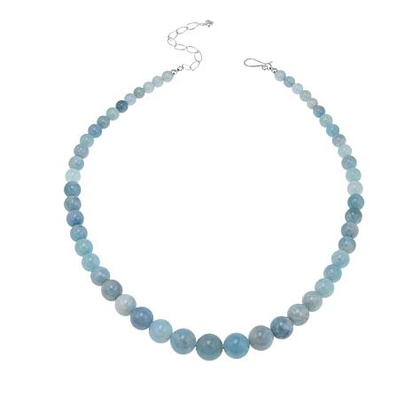 "Jay King Aquamarine Graduated Bead 20"" Necklace"