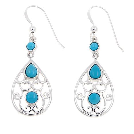 Jay King Azure Peak Turquoise Drop Earrings