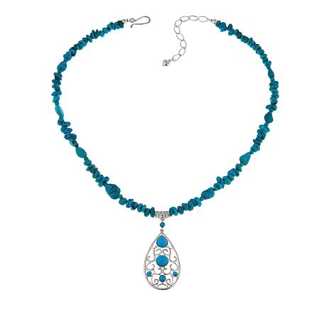 Jay King Azure Peak Turquoise Pendant-Necklace