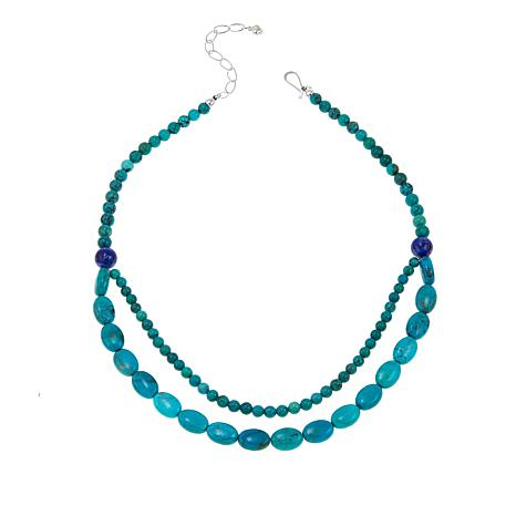 "Jay King Azure Peaks Turquoise and Lapis 18"" Necklace"