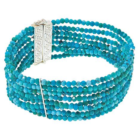 Jay King Azure Peaks Turquoise Beaded Multi-Row Bracelet