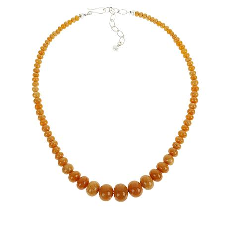 Jay King Butterscotch Amber Graduating Bead Necklace