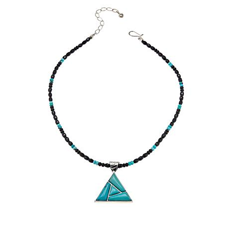 Jay King Campitos Turquoise and Chalcedony Pendant-Necklace
