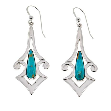 Jay King Contemporary Santa Rita Turquoise Sterling Silver Earrings