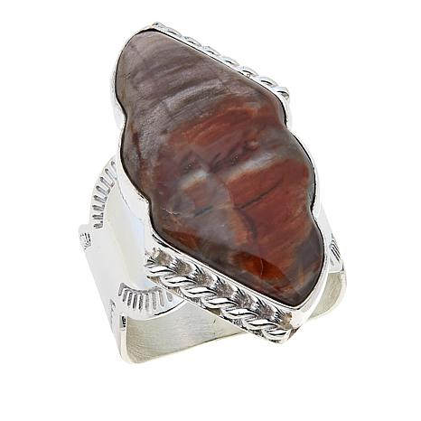 Jay King Devil's Gate Juniper Petrified Wood Sterling Silver Ring