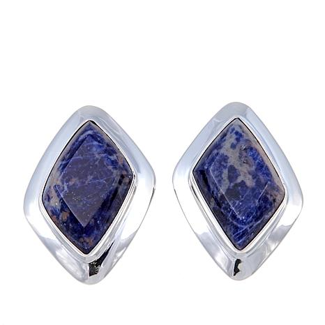 Jay King Freeform Sodalite Sterling Silver Earrings