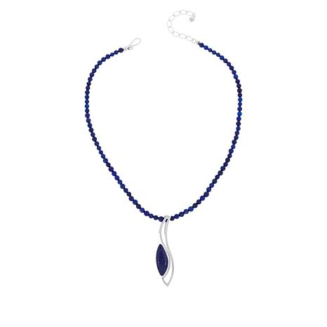 Jay King Gallery Collection Lapis Pendant with Beaded Necklace