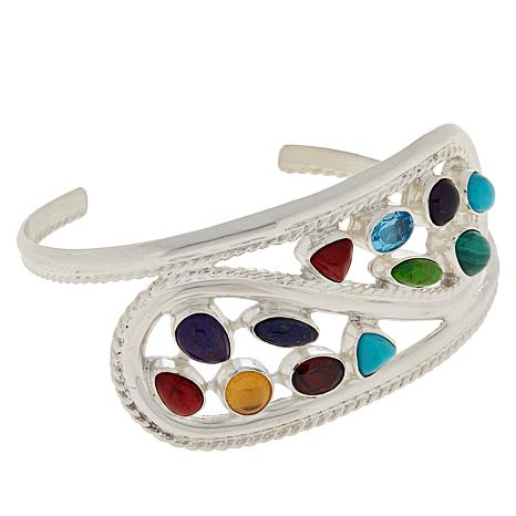 Jay King Gallery Collection Multi-Gemstone Paisley Cuff Bracelet