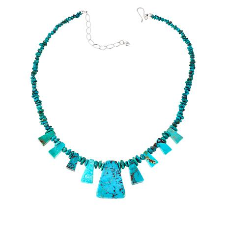 "Jay King Iron Mountain Turquoise 18"" Necklace"