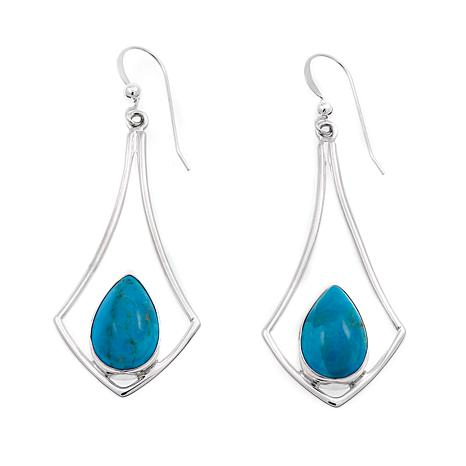 Jay King Kingman Blue Turquoise Sterling Silver Earrings