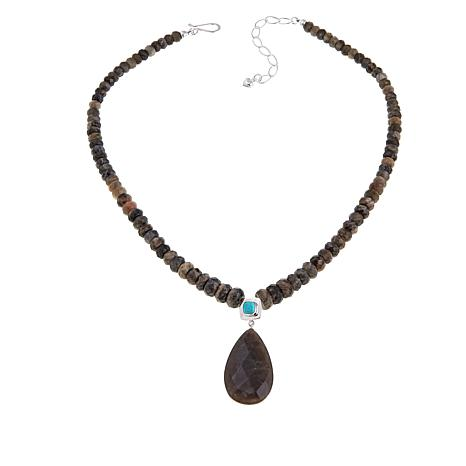 "Jay King Labradorite and Turquoise Drop 18-1/4"" Bead Necklace"